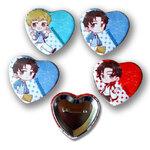 Heart Button Badges