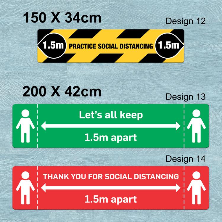 Social Distancing Floor Banner Decals
