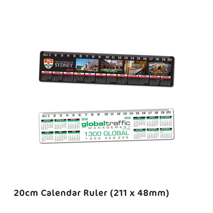 20cm Calendar Ruler